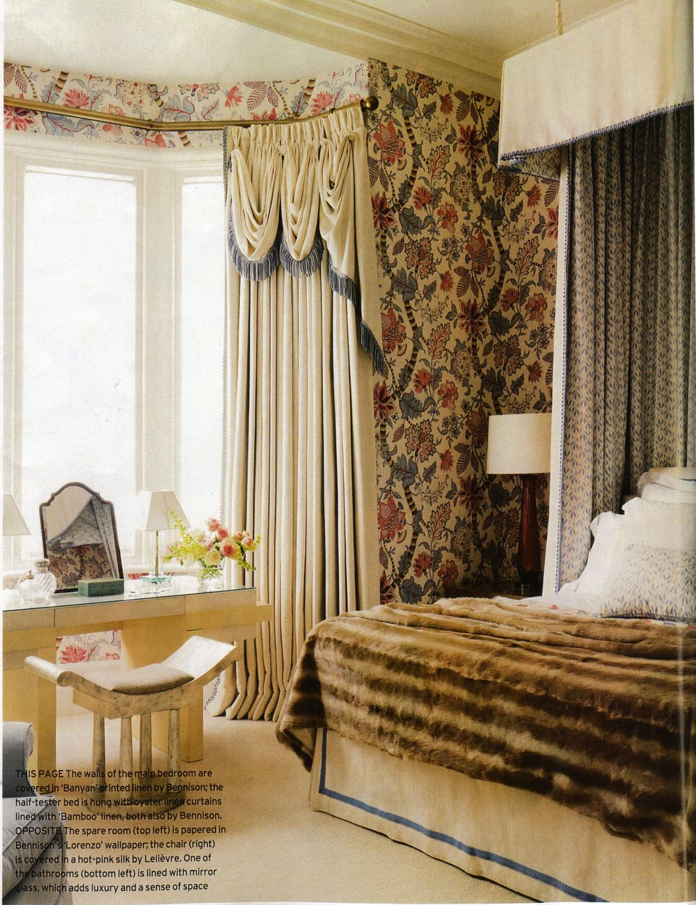 Banyan Blue Pink (walls) - Little Bamboo (interior bed drapes)