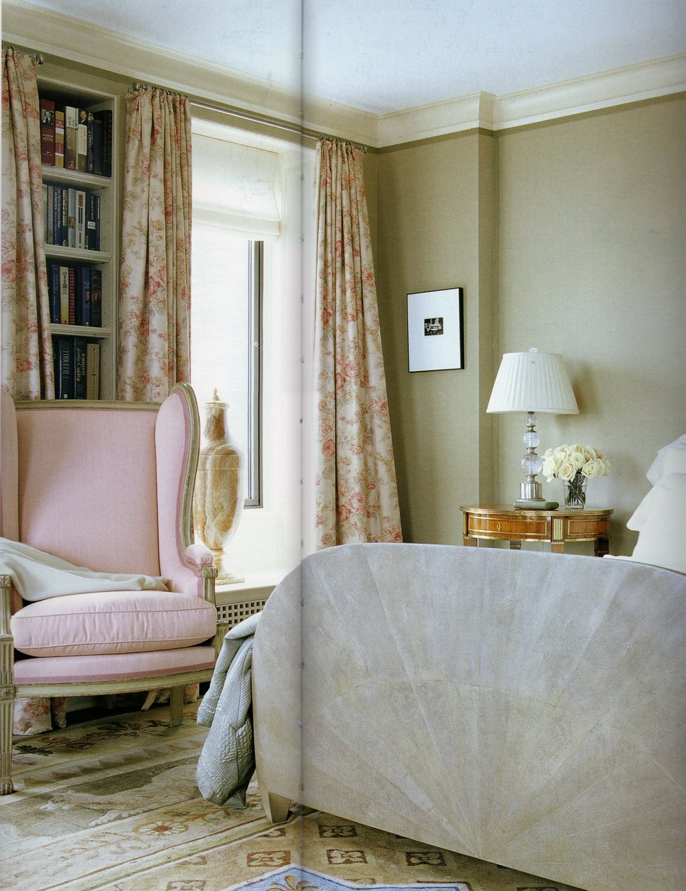 Damask Rose - Faded on Oyster