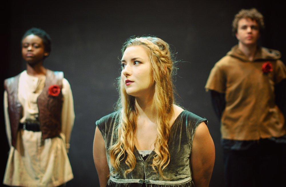 Madison McKenzie Scott as Duchess Eleanor in Henry VI: The Rise of Richard. Great River Shakespeare Festival, 2017. Photo by Benjamin Boucvalt.