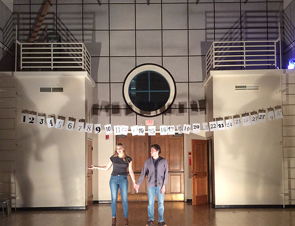 """Madison McKenzie Scott and Spencer McEvilly in """"June.""""  Isolated Incident's 30 Plays in 60 Minutes, Irvine CA, 2016."""