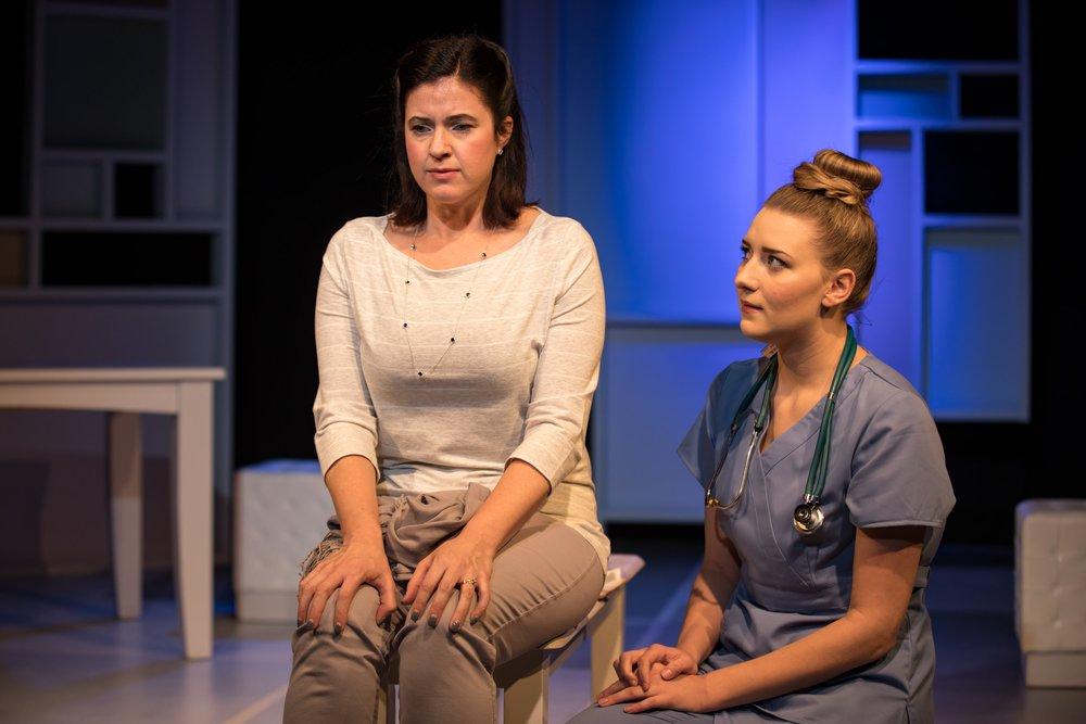 Madison McKenzie Scott as the Nurse in A Kid Like Jake. Benchmark Theatre, 2018. Photo by Susannah McLeod.
