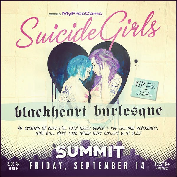 You nerds ready to have some fun? We are giving away a pair of tickets to @suicidegirls : Blackheart Burlesque the sexiest, geekiest and most fun pop-culture burlesque show, coming to @summitden this Friday night. Just tag your prom date in the comments  and share this post to enter to win.