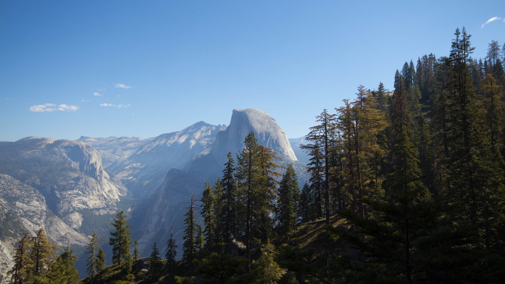 A shot of Half Dome during our hike down 4 Mile Trail.