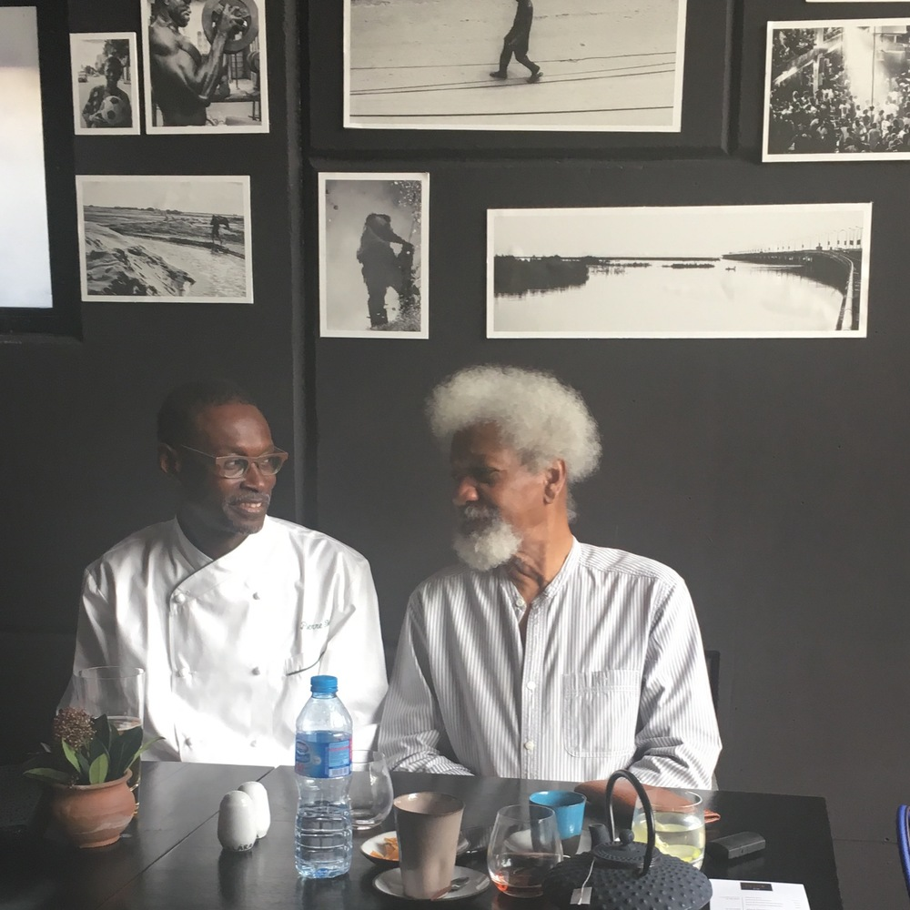 with Nobel Laureate Wole Soyinka