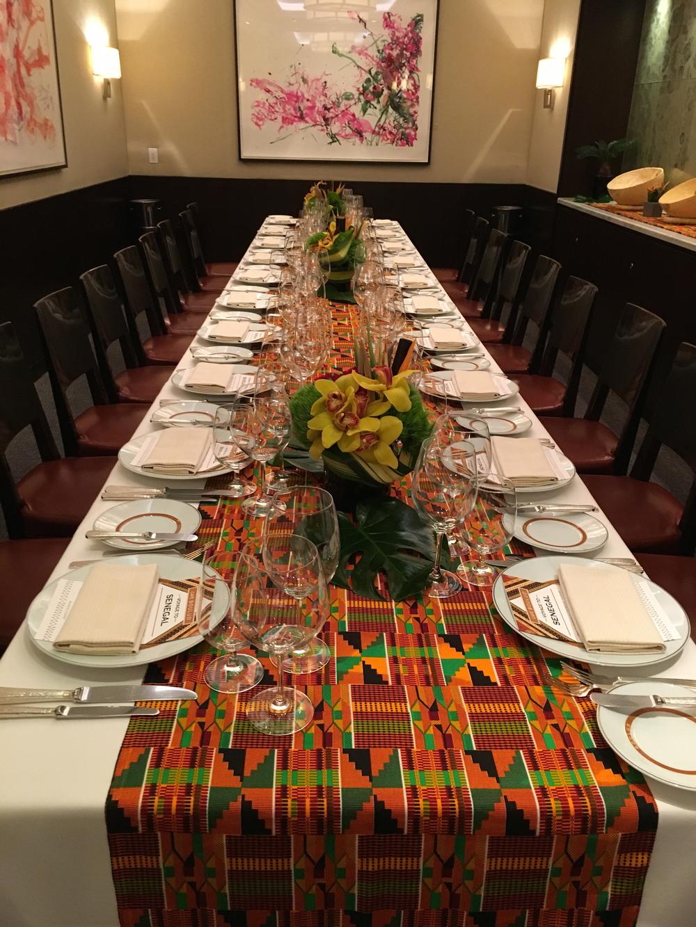 Table Setting Senegal Dinner Cafe Boulud