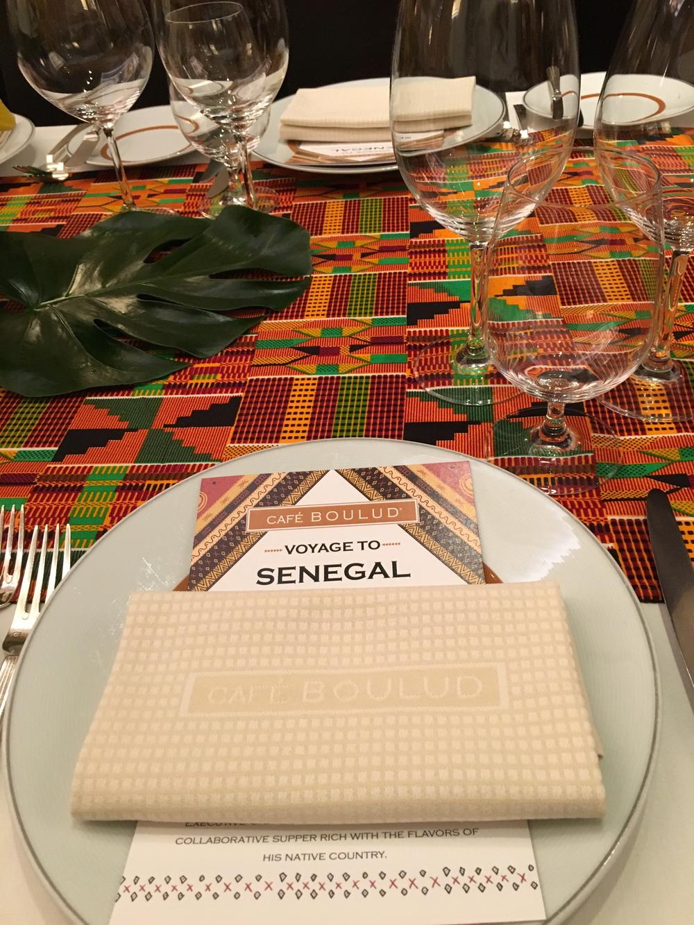 Senegal menu Cafe Boulud