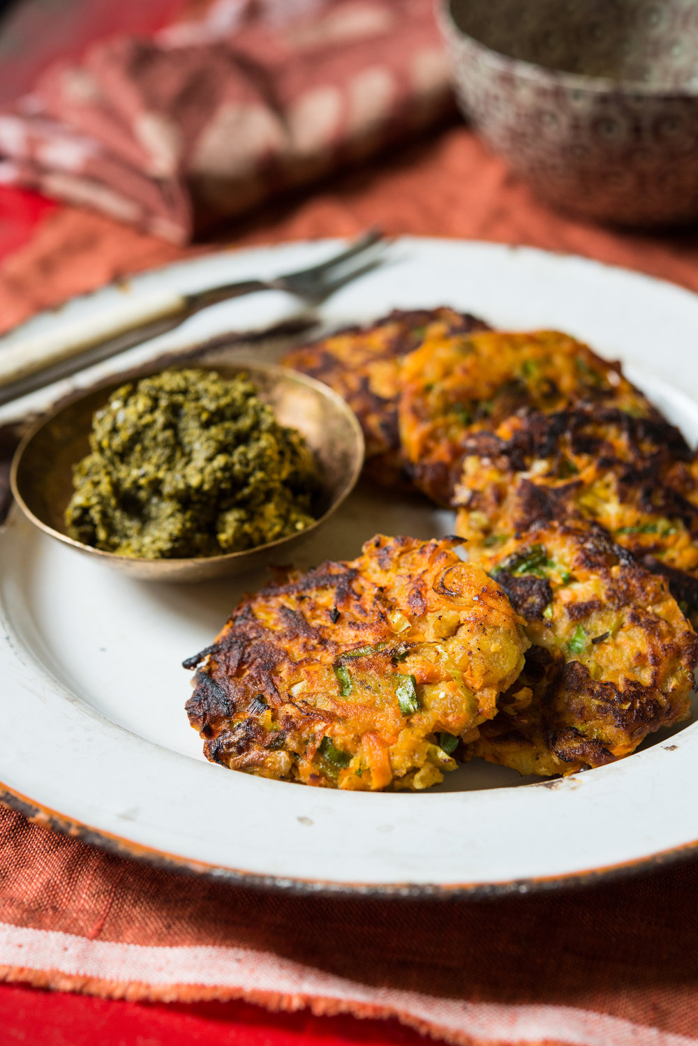 Sweet Potato & Green Plantain Latkes