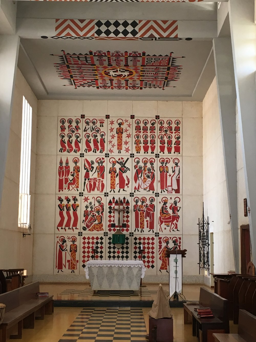 Mural of African Saints at Keur Moussa Monastery