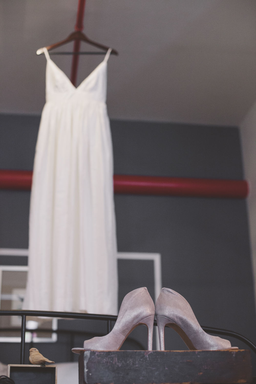 dress and shoe shot wedding