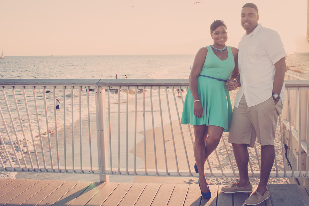 nyc beach engagement photography
