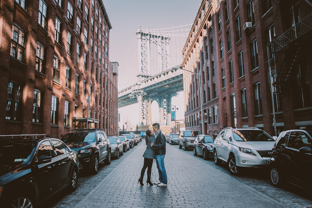 dumbo cobblestone engagement photos