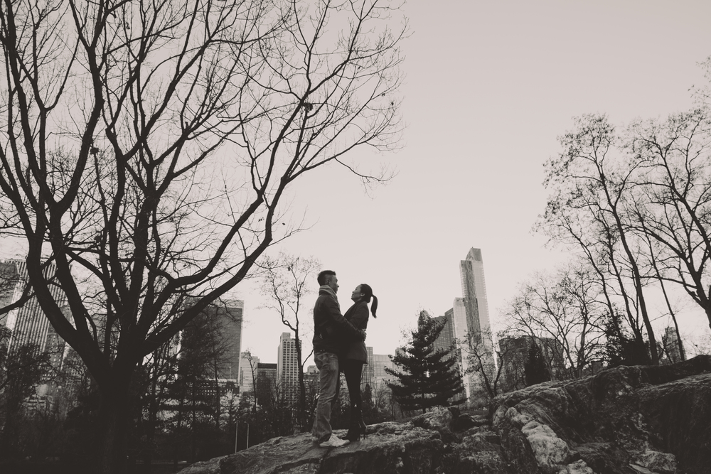 black and white central park film photography
