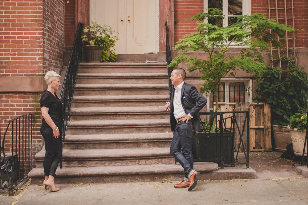 stylish nyc couple session