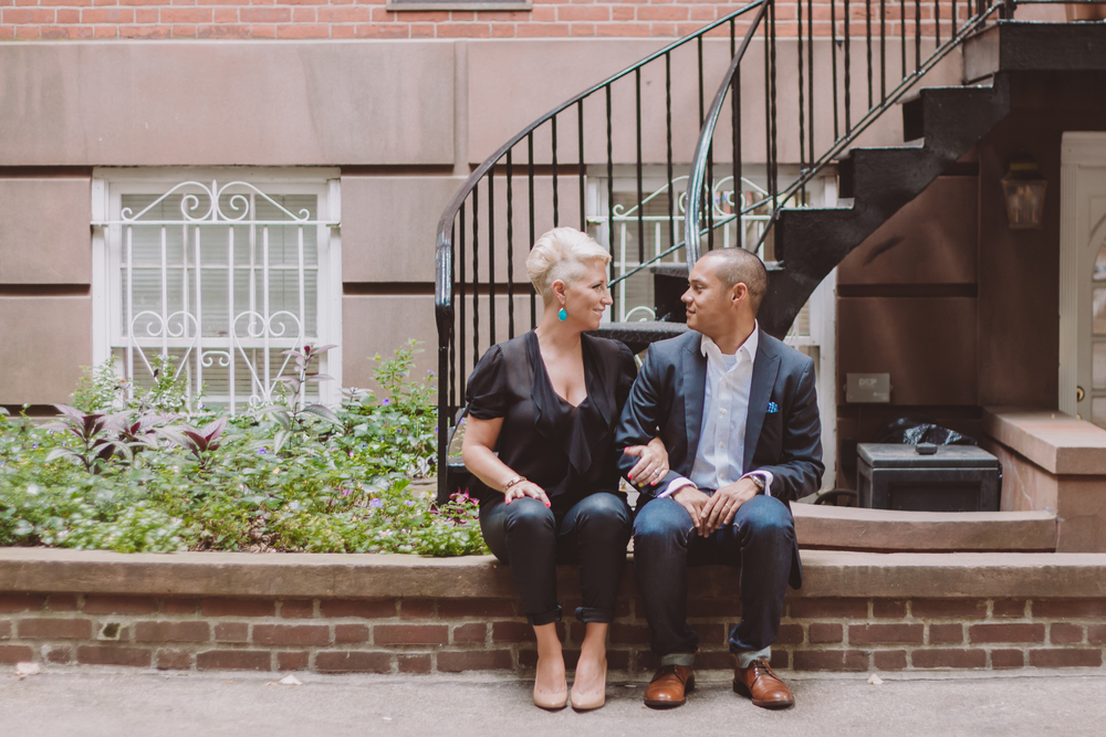 summer nyc west village engagement photographer
