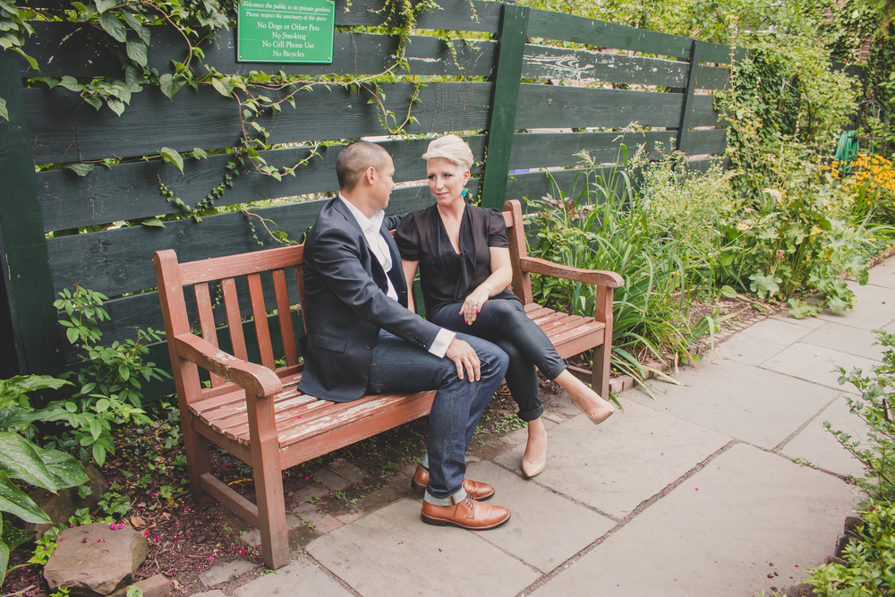 garden west village nyc lifestyle couple session