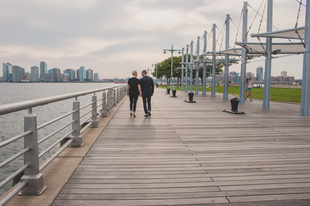 nyc piers engagement photography