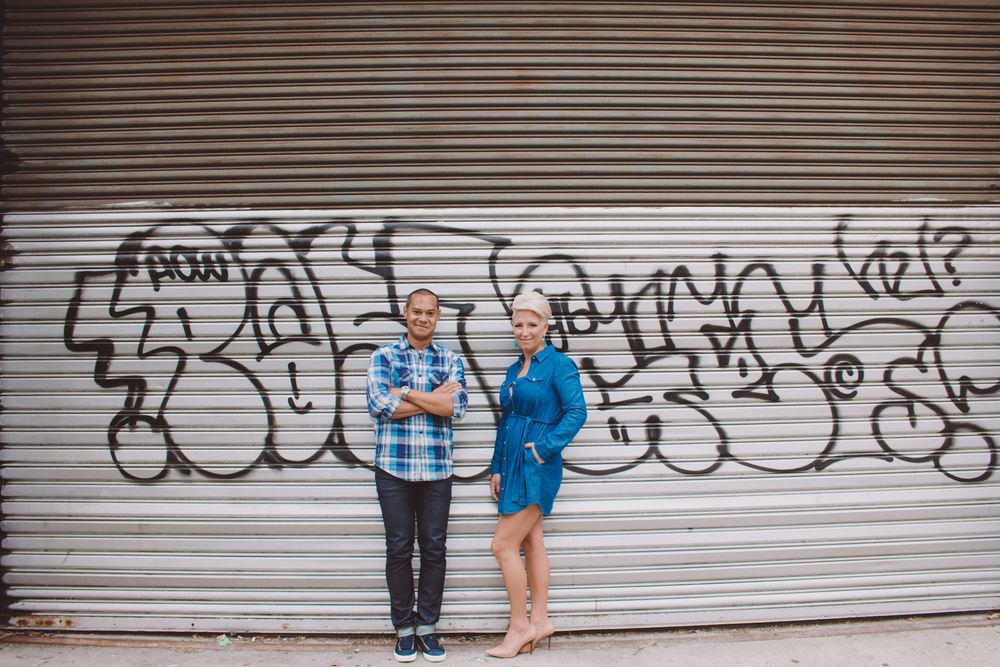 graffiti west village engagement photography