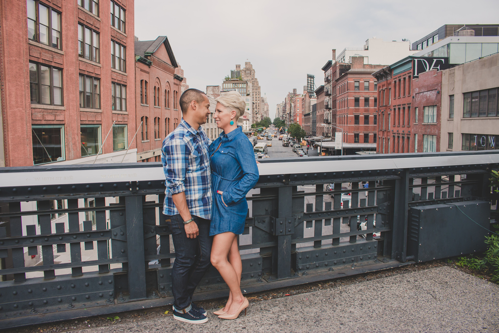 highline nyc engagement photography