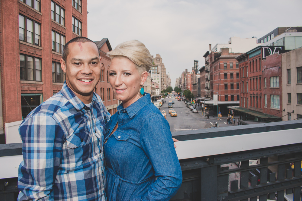 highline park engaged couple shoot