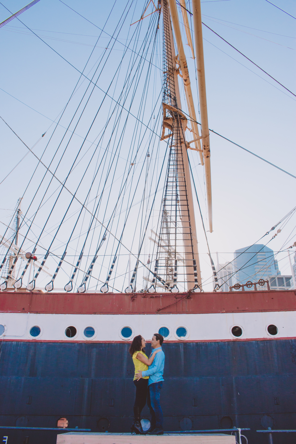 south street seaport engagement photography