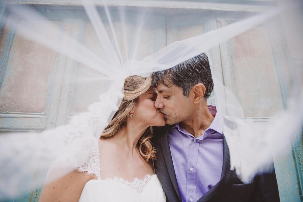 through the veil wedding photography