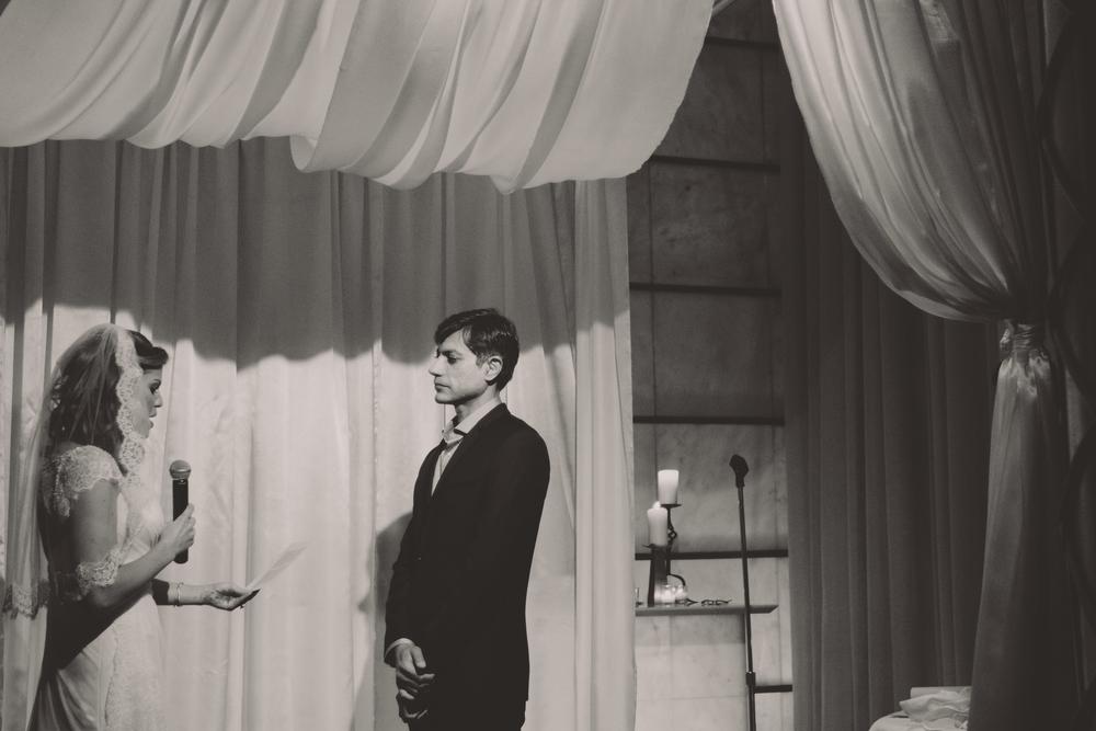 bride reading vows nyc