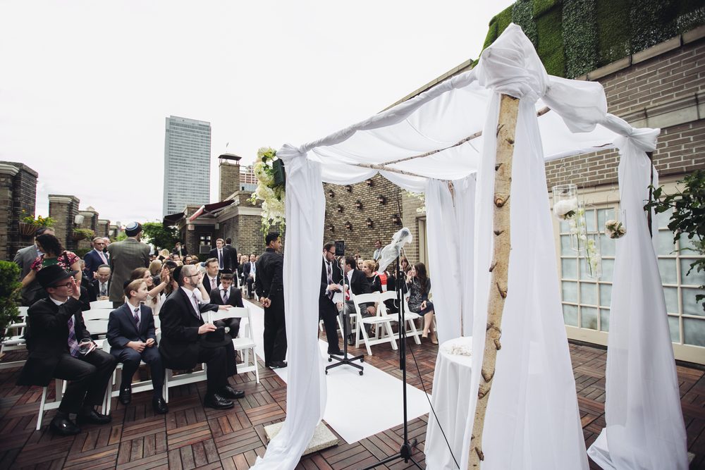 midtown loft and terrace wedding ceremony