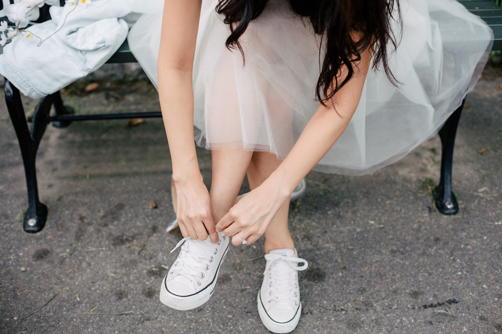 tutu and converse engagement shoot