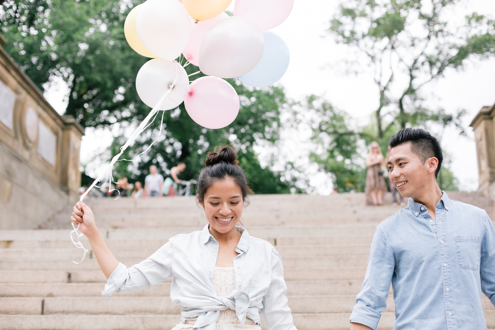 engagement photoshoot in central park ny