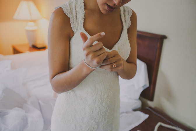wedding day last touches