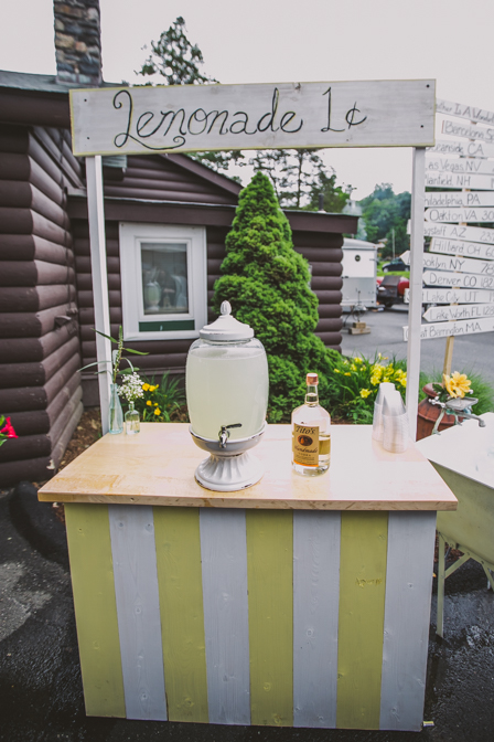 lemonade stand wedding theme