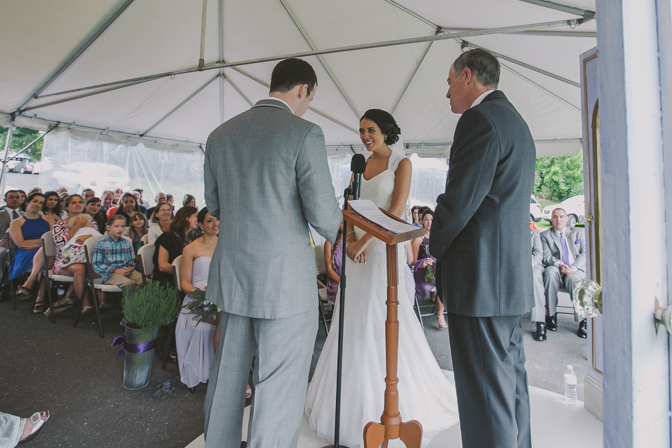 beautiful couple exchanging vows