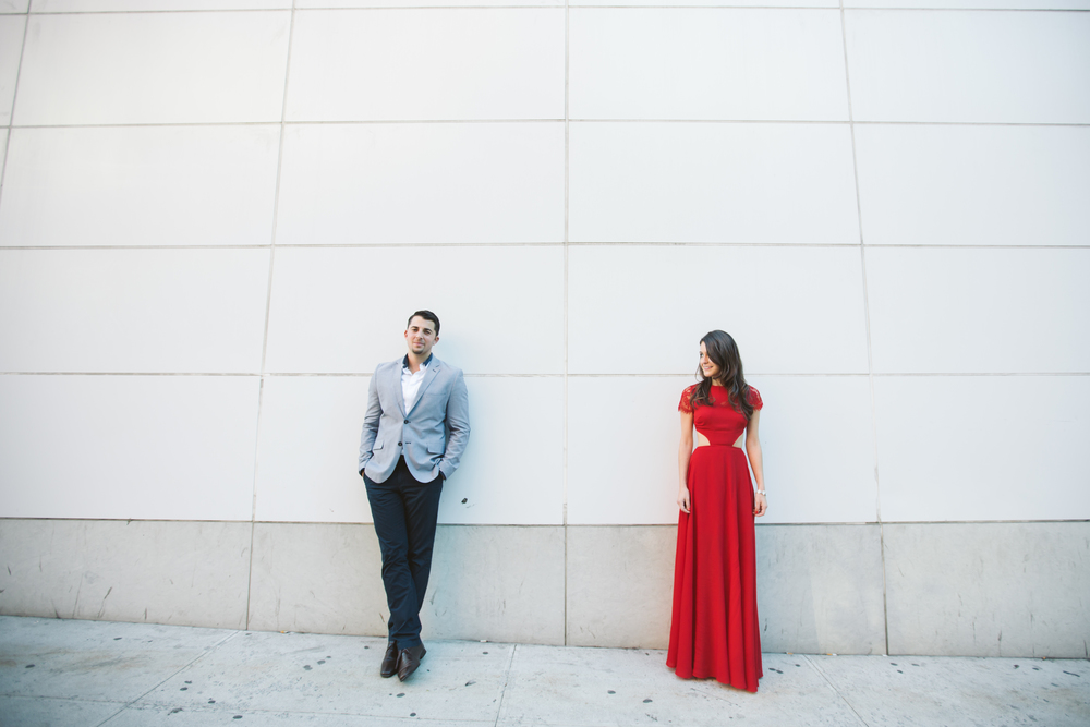 urban midtown nyc engagement photography