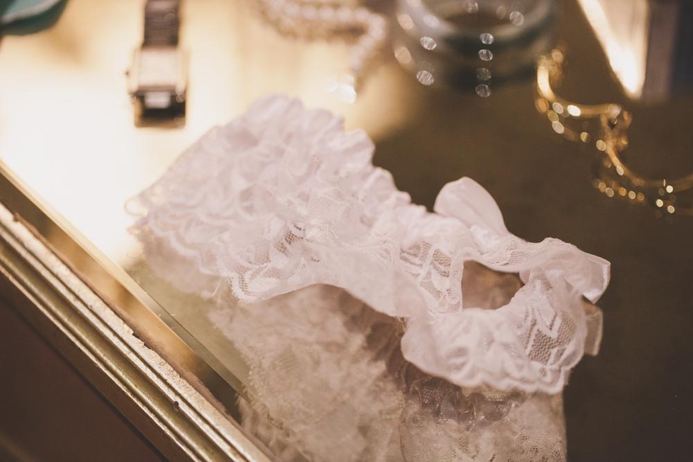 white lace wedding garter