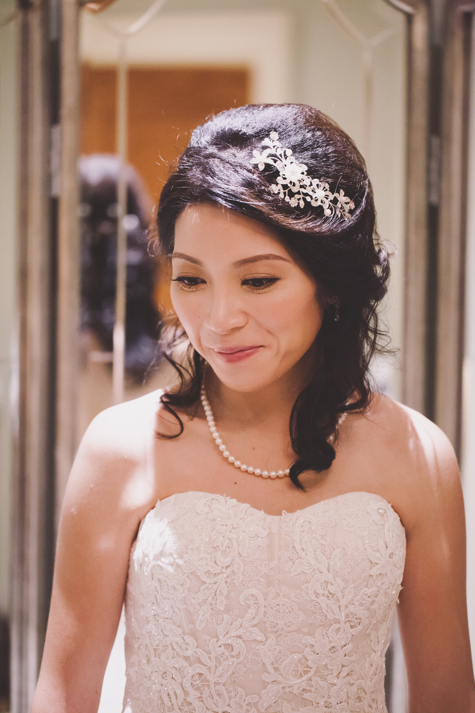 close up of bride at the inn at new hyde park