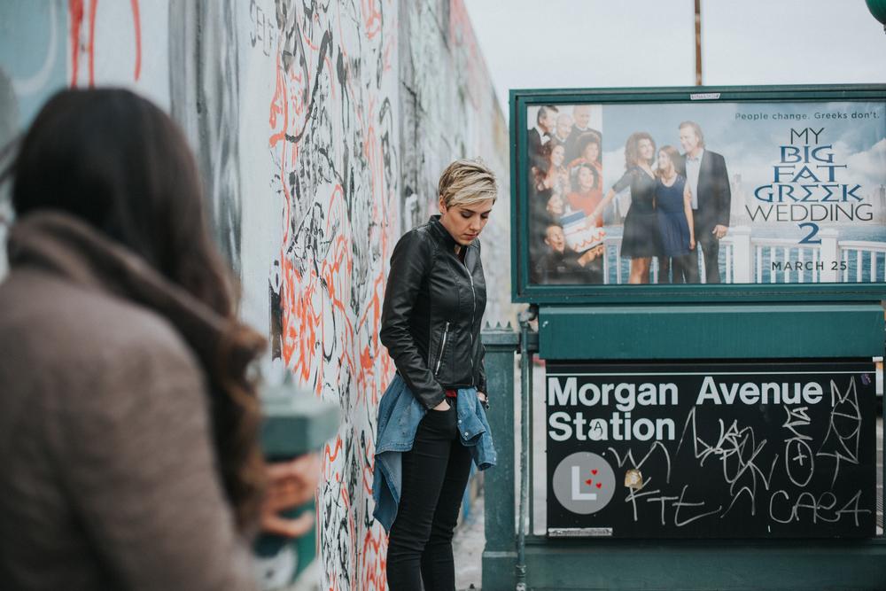 street train photography Brooklyn l stop