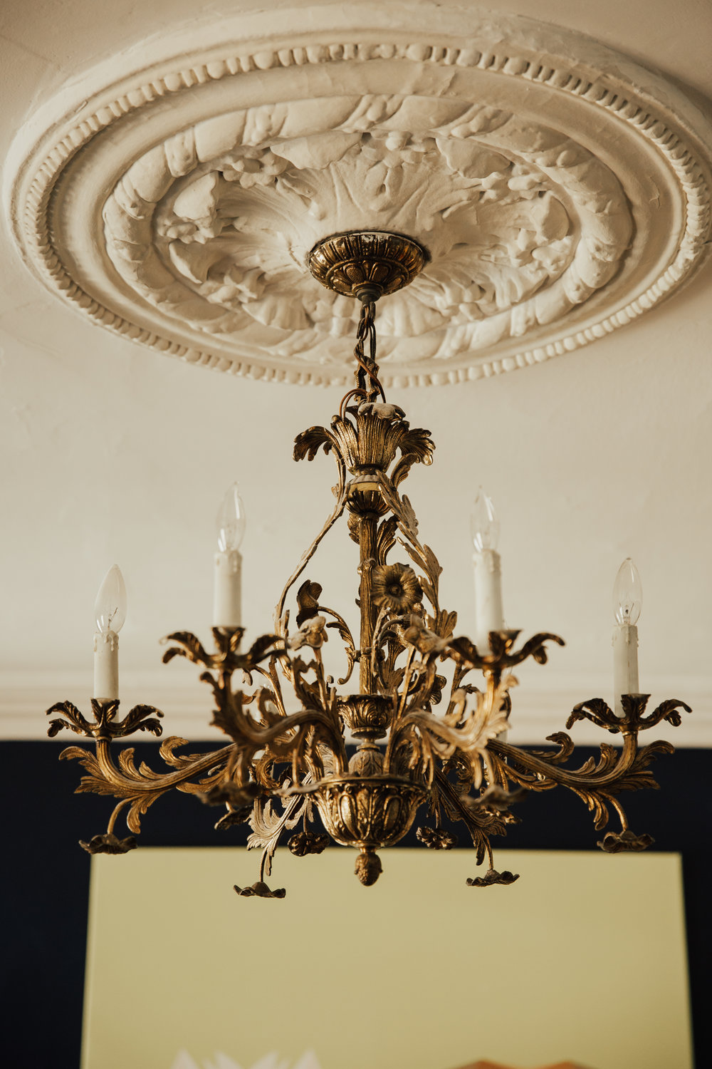 old brooklyn apartment chandelier