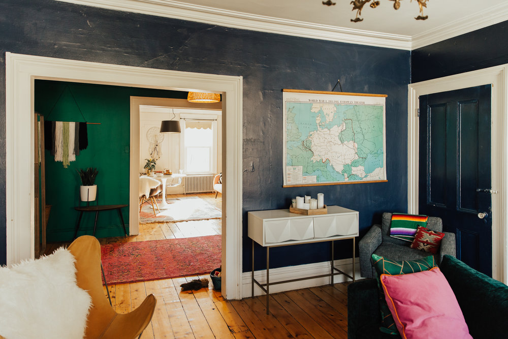 colorful williamsburg apartment inspiration