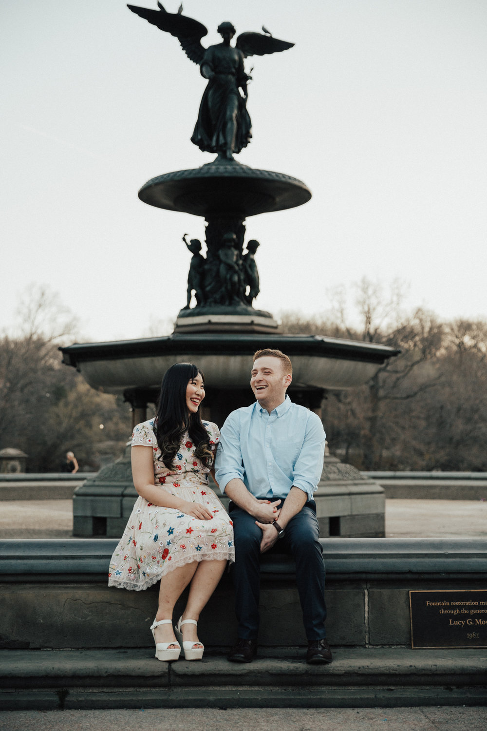 bethesda fountain engagement