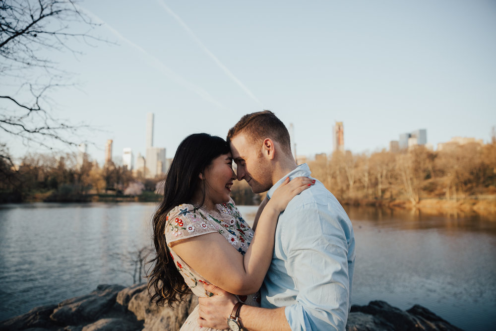 photojournalistic central park engagement