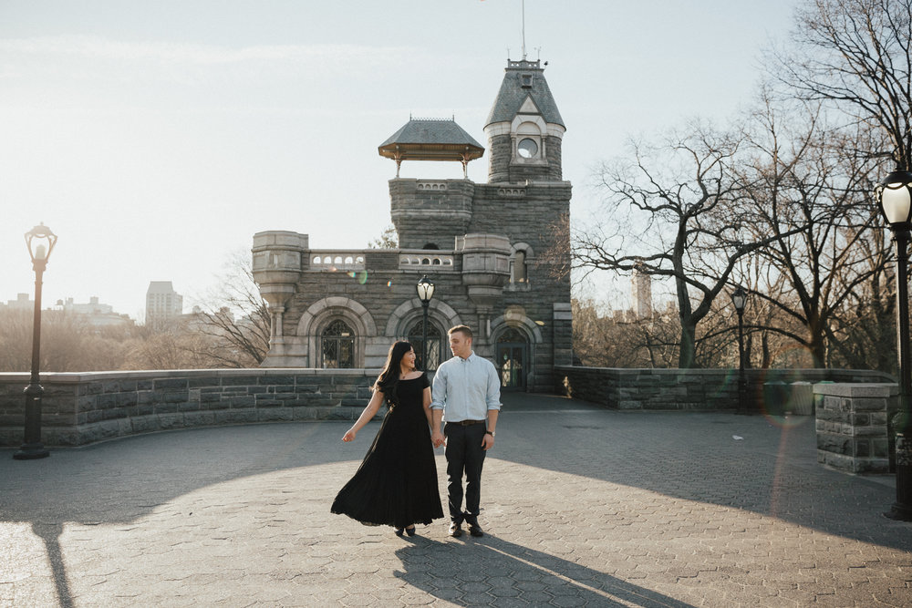 belvedere castle new york engaged