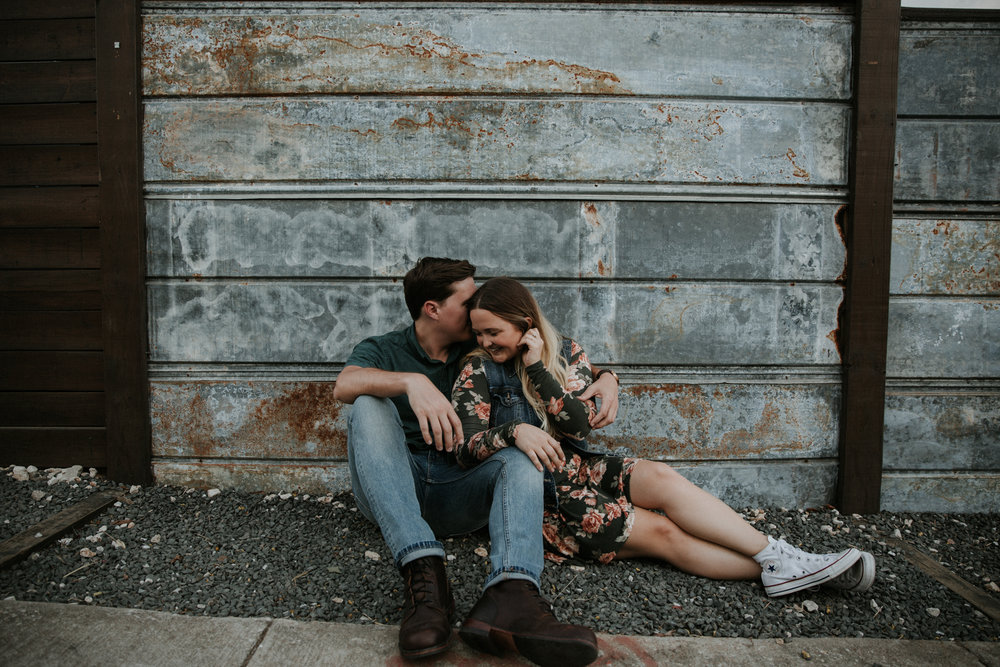 hipster couple engagement shoot