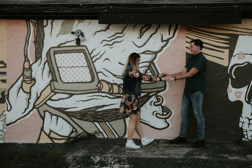 urban graffiti engagement shoot austin