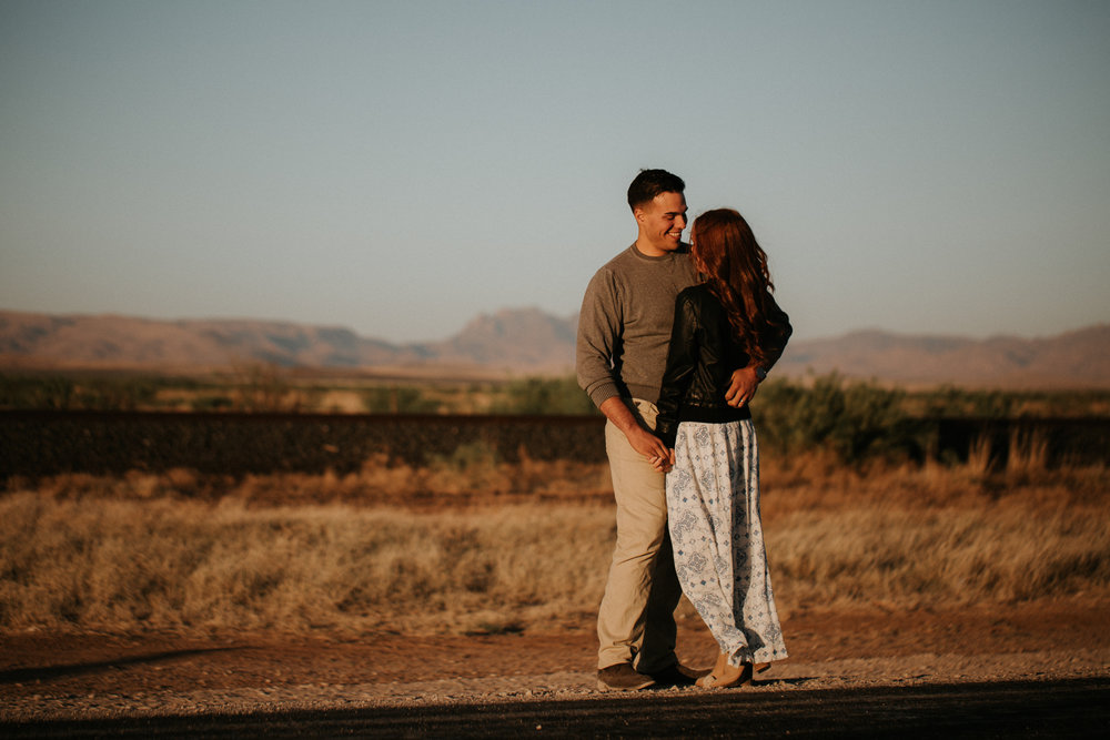 marfa sunset engagement shoot