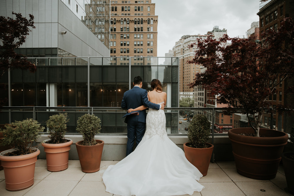 new york rooftop creative wedding