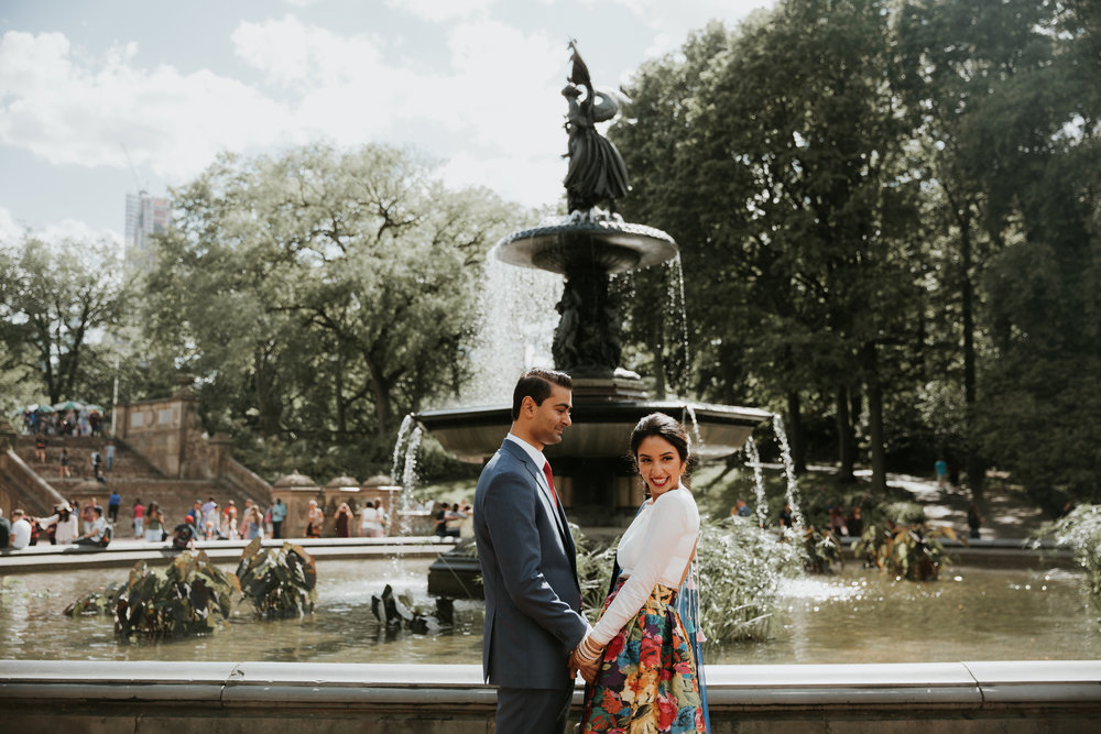 nyc indian engagement shoot