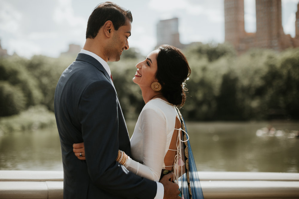 new york city indian engagement photography