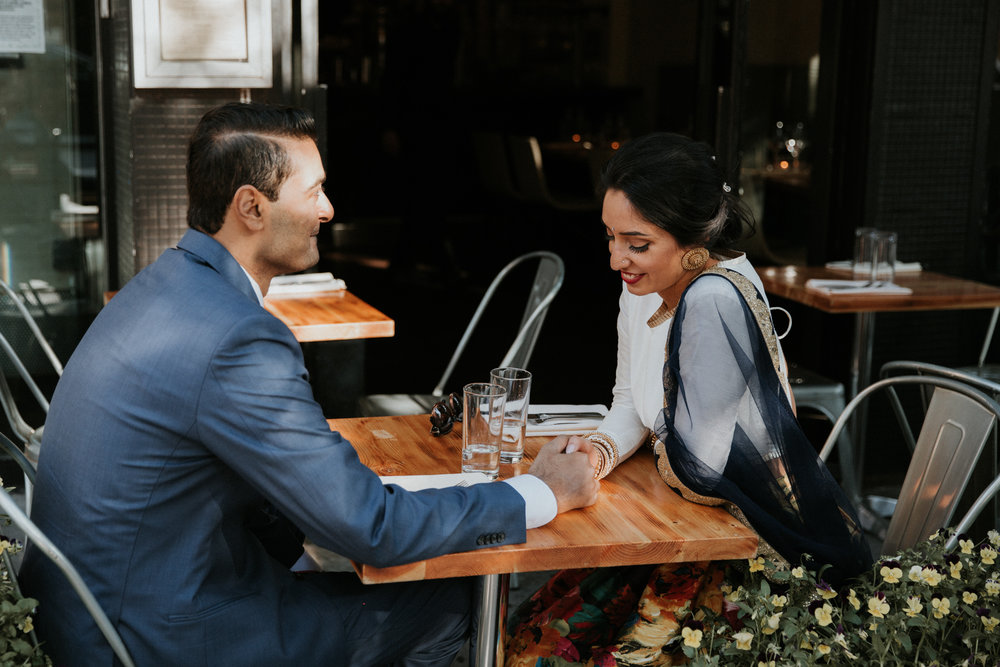 new york cafe engagement photography