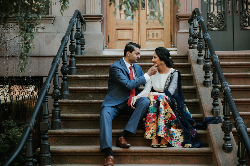 nyc stoop engagement photography