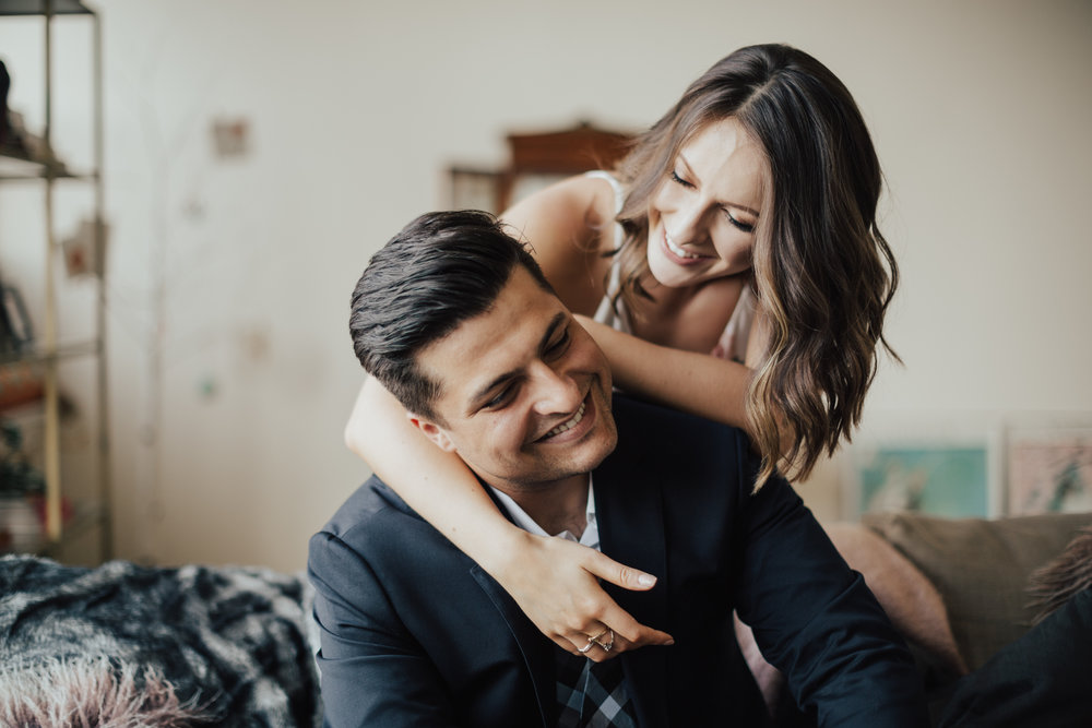 nyc intimate engagement photo
